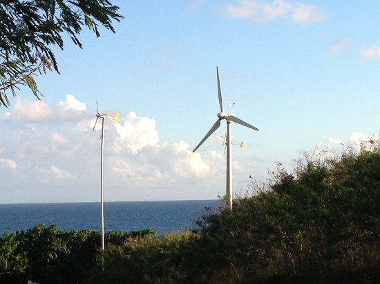 St Croix USVI south shore mini wind farm team