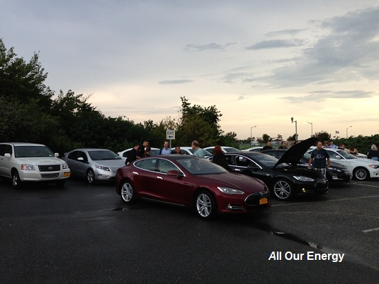 Touted as possibly the largest collection of electric vehicles in this area.